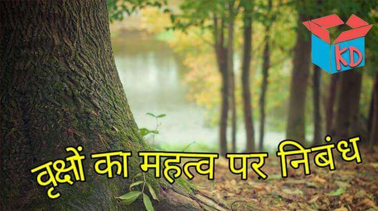 Importance Of Trees In Hindi Essay