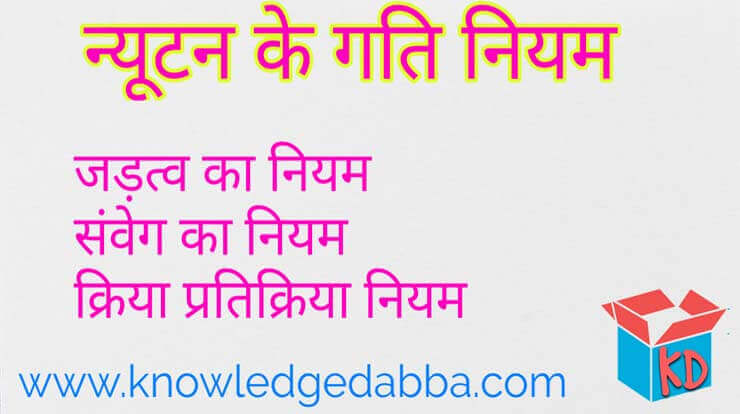 Newton Laws Of Motion In Hindi