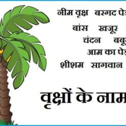 Trees Name In Hindi