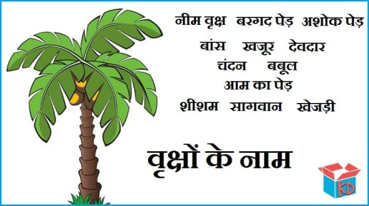 Trees Name In Hindi