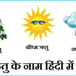 Seasons Name In Hindi