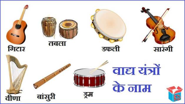 Musical Instruments Names In Hindi