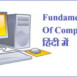 Fundamentals Of Computer In Hindi