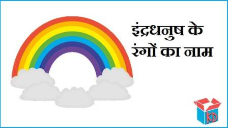 Rainbow Colors In Hindi